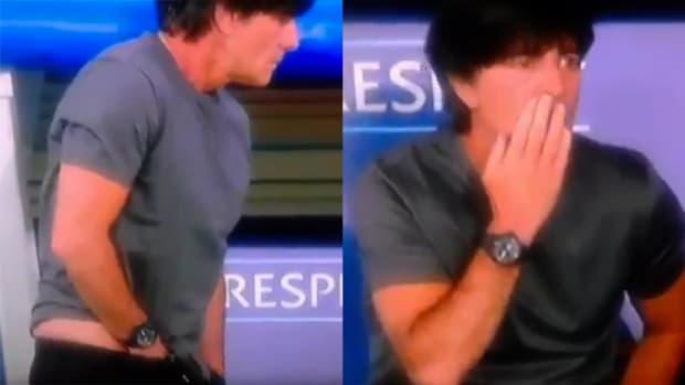 Mustard Minute: Germany's coach smells fingers after adjusting himself IMG