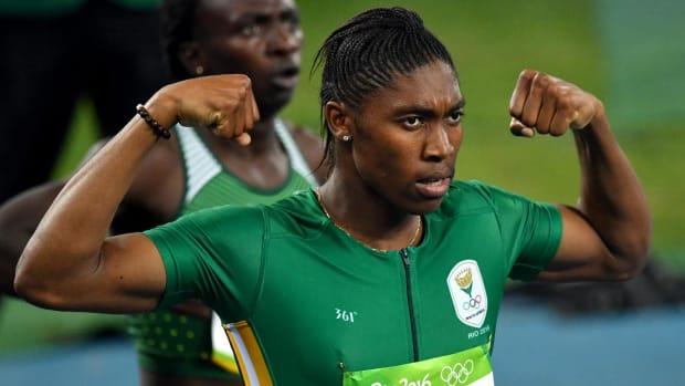 Caster Semenya wins gold in women's 800m race -- IMAGE