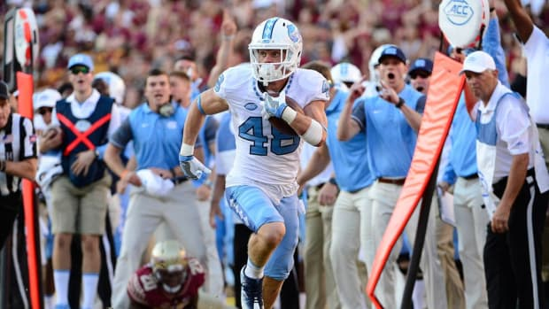 From childhood fan to valuable walk-on, North Carolina WR Thomas Jackson finally found a moment to celebrate