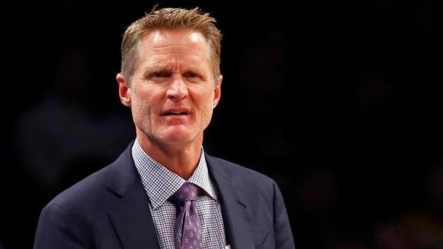 Steve Kerr blamed the millennials for the Warriors' slow start on Thursday - IMAGE