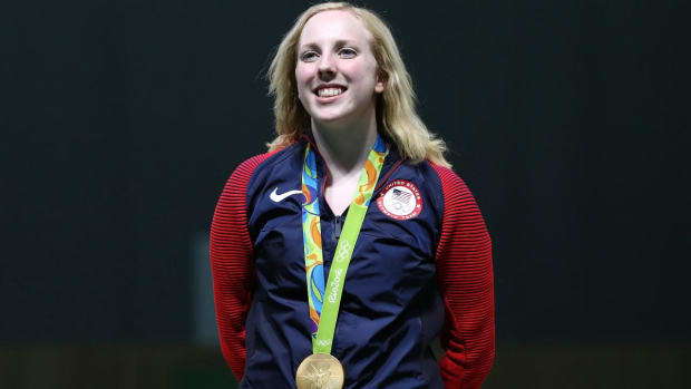 Shooter Virginia Thrasher wins first gold medal of Rio Olympics for Team USA--IMAGE