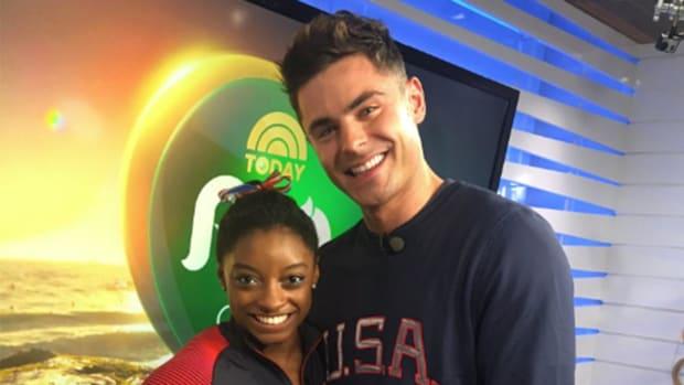 Simone Biles, Zac Efron meet at Rio Olympics -- IMAGE