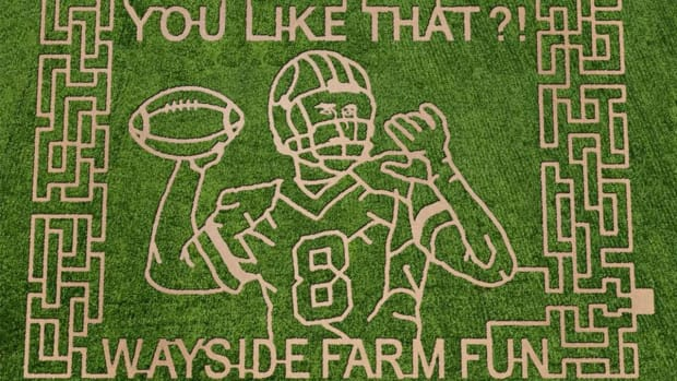 Redskins QB Kirk Cousins honored with corn maze - IMAGE