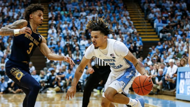 Cole Anthony UNC basketball vs Notre Dame