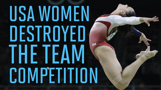 'Final Five' USA Womens Gymnastics Team dominates, win Olympic gold - IMAGE