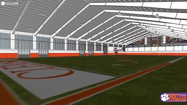 Clemson's new football facility features laser tag, indoor golf and a slide - IMAGE