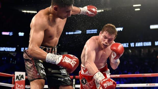 Canelo Alvarez KOs Amir Khan, calls out Gennady Golovkin -- IMAGE