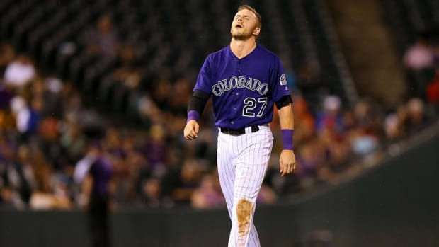 Rockies' Trevor Story could miss remainder of season with torn thumb ligament - IMAGE