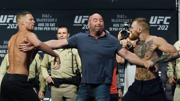 UFC 202 weigh in fracas