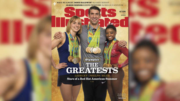 Behind the Scenes: Ledecky, Phelps, and Biles cover shoot IMAGE