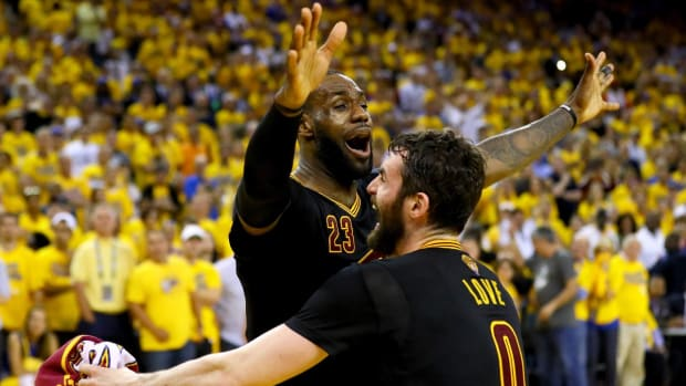 LeBron James fulfills mission, leads Cavaliers to first NBA title IMAGE