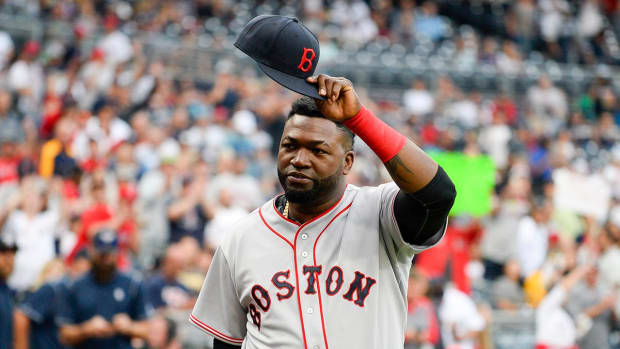 David Ortiz celebrated prior to final game at Fenway--IMAGE