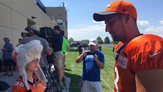 Brandon McManus broke a 10-year-old's wrist at Broncos camp--IMAGE