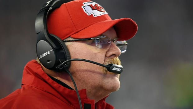 Chiefs coach Andy Reid will take over play calling--IMAGE