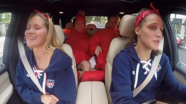 Michael Phelps, US Olympic Swim Team show off their karaoke skills -- IMAGE