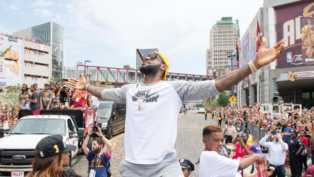 Millions of fans celebrated with Cavs during NBA Championship parade IMAGE