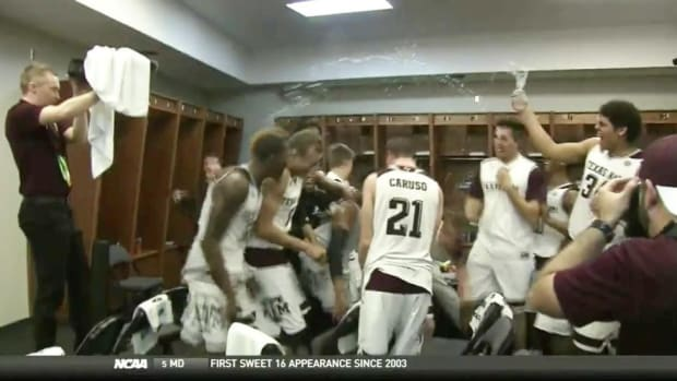 Watch: Texas A&M crushes postgame locker room celebration