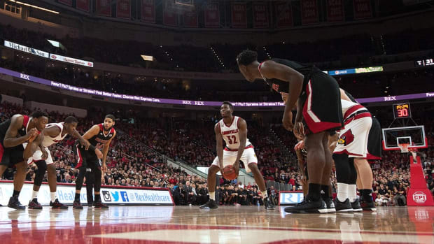 Going Granny Style: Louisville's Onuaku has had success this season shooting free throws underhanded