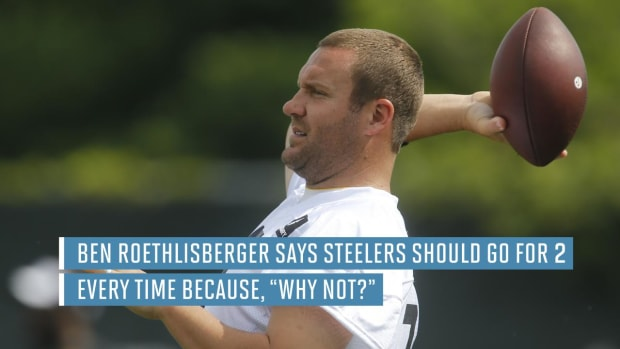 Ben Roethlisberger wants Steelers to go for two after every touchdown--IMAGE