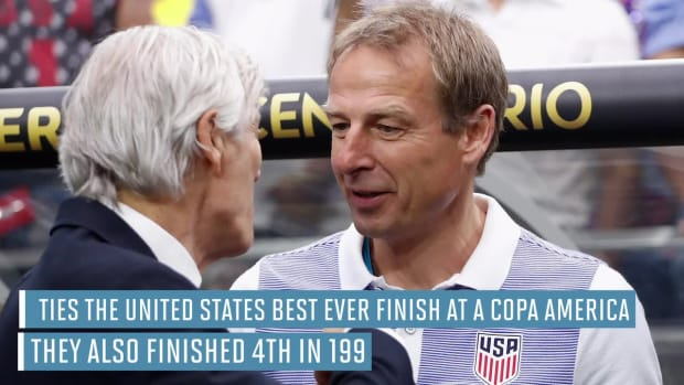 U.S. finishes fourth at Copa America after 1-0 loss to Colombia --IMAGE