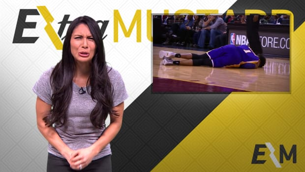 Mustard Minute: D'Angelo Russell's pain after being hit in groin is real IMG