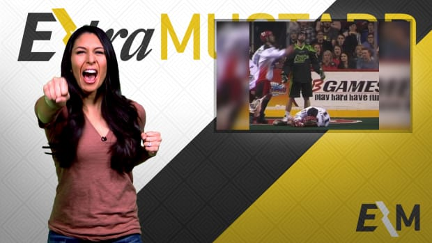 Mustard Minute: Lacrosse player quickly finds out how aggressive the sport is IMG