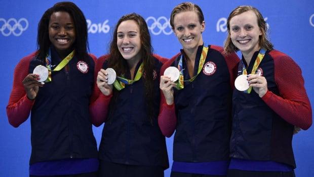 U.S. swimmer Ledecky, Dirardo win silver, French gymnast breaks leg at Rio Olympics--IMAGE