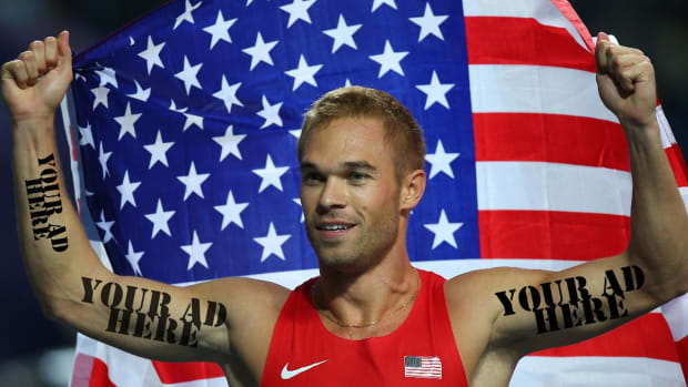 Olympic runner sells ad space on his shoulder for $21,800 -- IMAGE