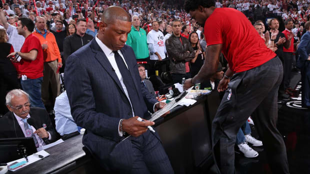 Clippers' Doc RIvers emotional before Game 5 -- IMAGE