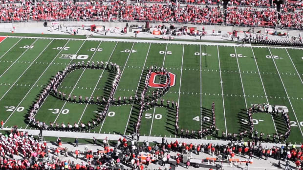 Go behind the formations with the Ohio State Marching Band -- IMAGE
