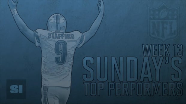 Sunday's Top Performers: Week 13 IMAGE