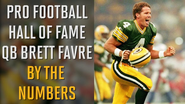 QB Brett Favre's Hall of Fame career by the numbers --IMAGE
