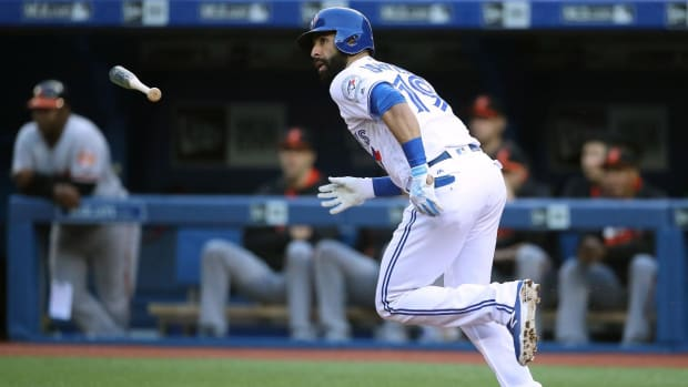 Blue Jays place Jose Bautista on 15-day DL with sprained toe--IMAGE