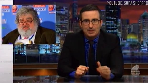 John Oliver addresses ex-FIFA official Jack Warner on Trinidad television