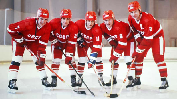 Green Unit Soviet Hockey