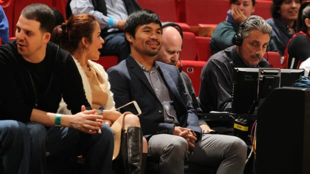 manny pacquiao floyd mayweather miami heat game