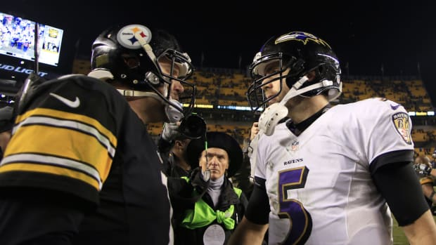Ben Roethlisberger and Joe Flacco