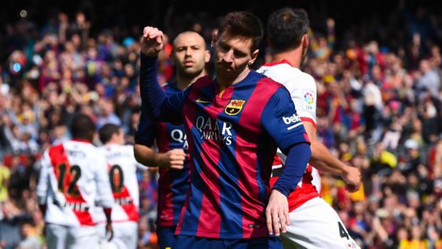Barcelona vs Rayo Lionel Messi