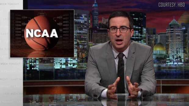 John Oliver talks paying student-athletes on 'Last Week Tonight'