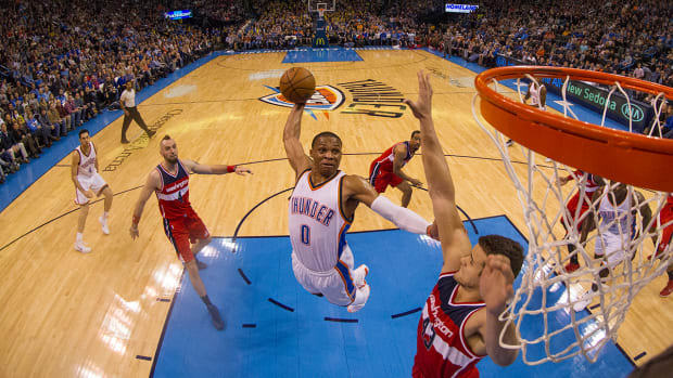 Russell Westbrook on not entering dunk contest: 'I only dunk on people' - image