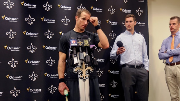 "Saints QB Drew Brees ""pretty confident"" he will play Sunday--image"