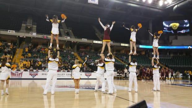 Wichita State cheerleaders Loyola University