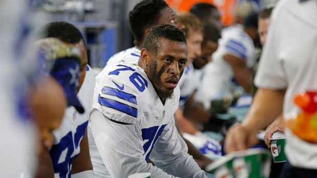 Report: Greg Hardy told NFL in reinstatement hearing victim 'tripped' - IMAGE
