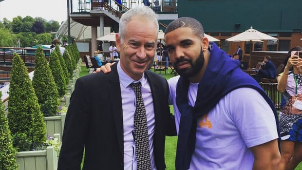 Drake hangs with tennis legends at Wimbledon IMAGE