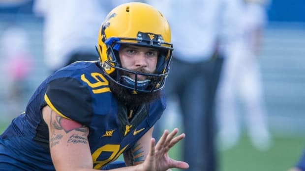 From 'Boomstache' to 'Boombeard,' West Virginia punter Nick O'Toole is a recognizable man on campus