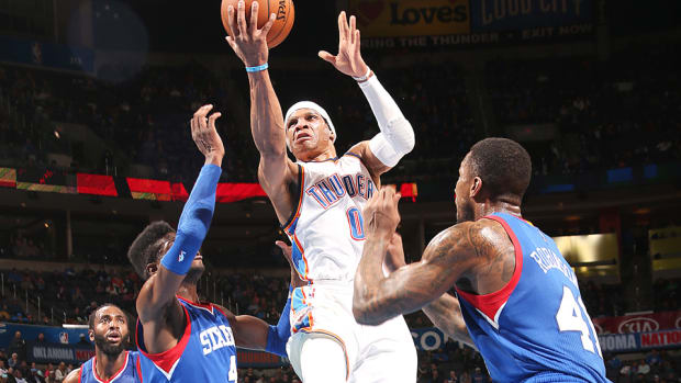 Russell Westbrook Thunder Sixers 960 white