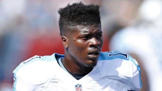 Titans WR Kendall Wright sustains MCL sprain vs. Texans - IMAGE