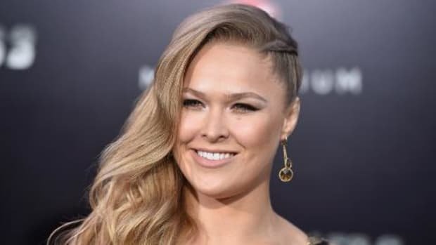 Ronda Rousey saw Star Wars: The Force Awakens in full costume -- IMAGE