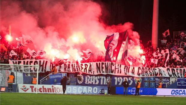 ligue 1 sc bastia nice stadium closed fan violence
