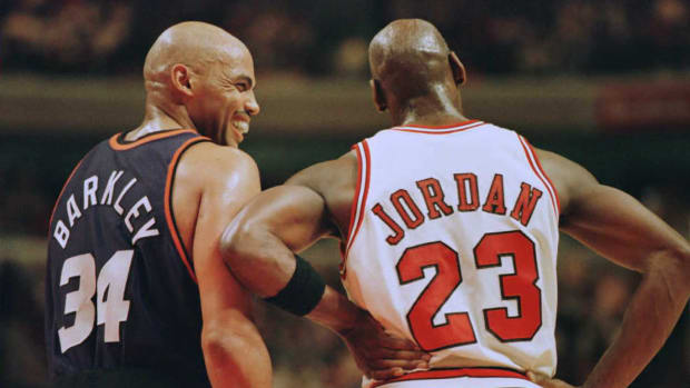 Barkley and Jordan, back of jerseys, Brian Bahr.jpg